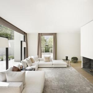 ... Vlassak Verhulst Villabouw Hedendaags Moderne Villa Living Openhaard  Gas Hoekzetel Flexform ...
